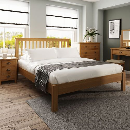 Cardano 5FT Kingsize Bed Frame - Rustic Oak