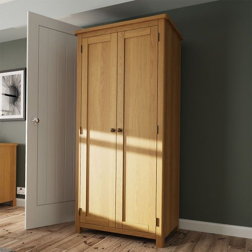 Cardano 2 Door Full Hanging Wardrobe - Rustic Oak