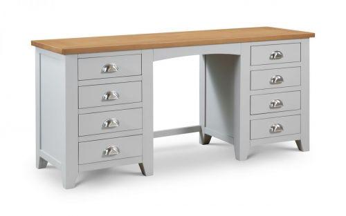 Julian Bowen Richmond 8-Drawer Dressing Table - Grey