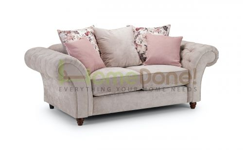 Romulo Fabric Sofa with 2 Seater - Grey/Beige