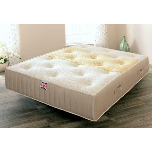 Manresa Sprung, Memory Foam and Wool Mattress - 3 Sizes