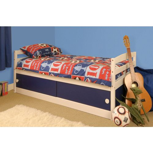 Solid Pine Wood 3FT Single Kids Bed with Mattress Option - 2 Colours