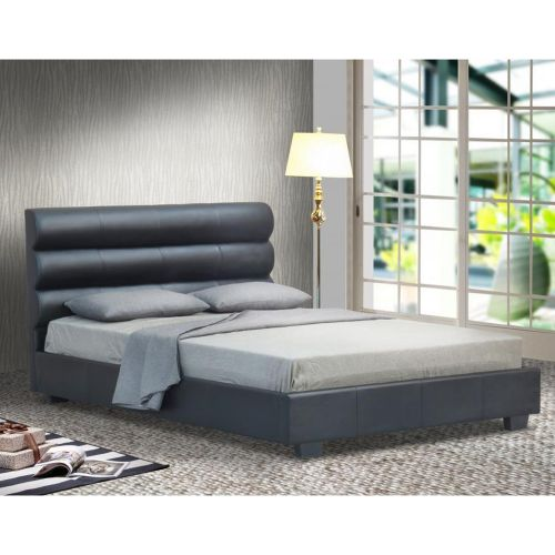Designer Faux Leather Modern Bed Frame with Mattress Option