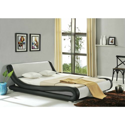 Enzo Modern Designer Italian Faux Leather Bed Frame - 4 Colours