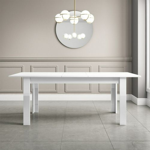 Vivienne 6 Seater Extendable Dining Table - White