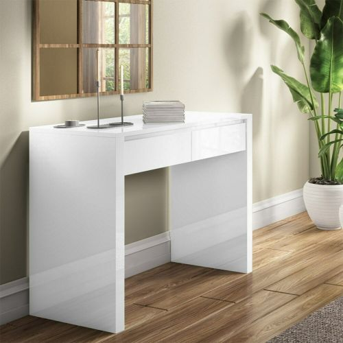 Tiffany High Gloss Console Table - White