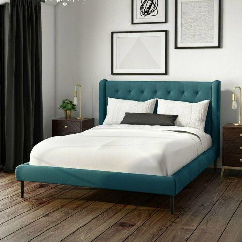 Amara Velvet 4FT6 Double Bed Frame - Teal