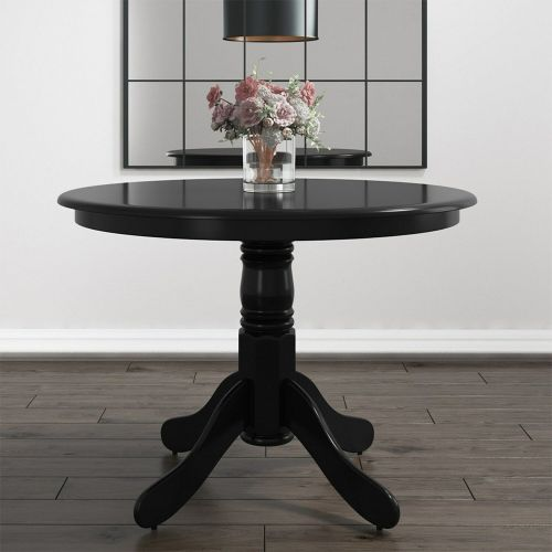 Rhode Small Round Dining Table - Black