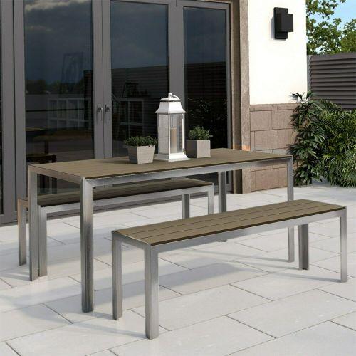 Garden Dining Table & Bench Set