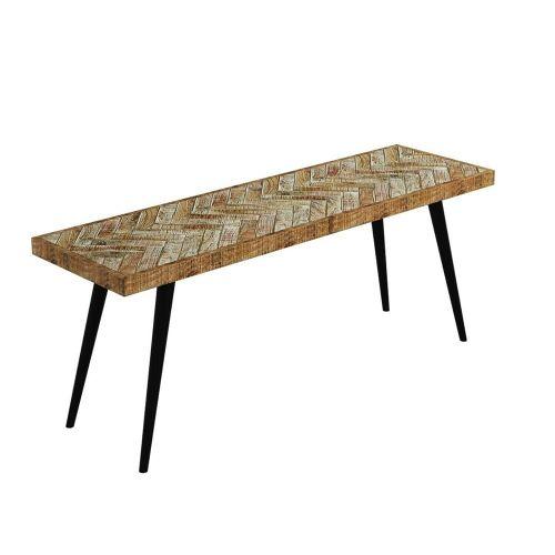 Arno Herringbone 2 Seater Dining Bench