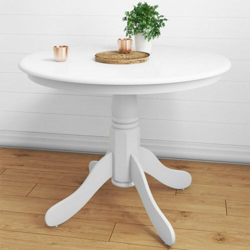 Rhode Small Round Dining Table - White