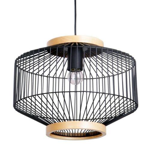 Woodbury Metal Cage Pendant Light - Black