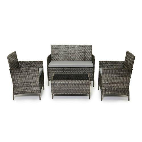 Madrid 4 Seater Rattan Garden Furniture Set - 3 Colours