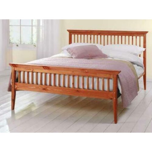 Shaker Wooden 4FT6 Double Bed Frame - Pine