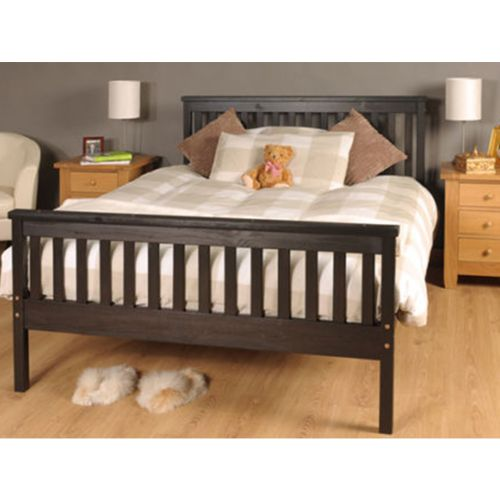 Atlantis Wooden 4FT6 Double Bed Frame with Mattress Option - Chocolate