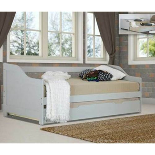 Wooden 3ft Single Day Bed with Trundle - 2 Colours