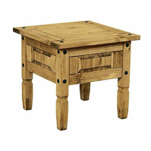 Corona Mexican Pine Living Room Wooden Lamp Table