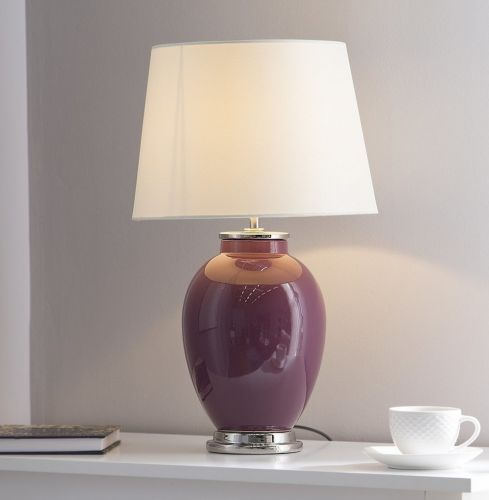 Brento Ceramic Table Lamp - Purple or Light Blue