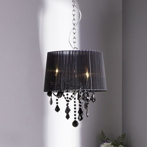 Edens Crystal Chandelier Lamp - Grey, White or Black
