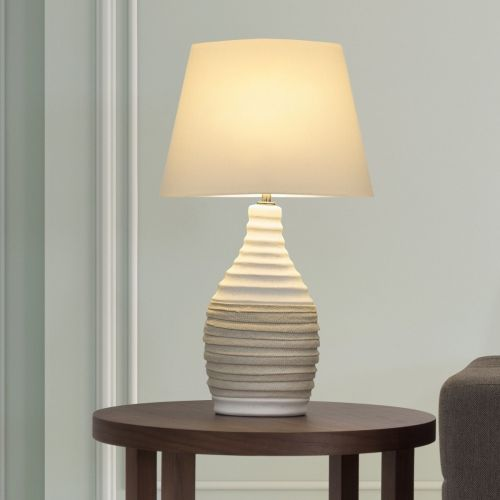 Torbes Porcelain Table Lamp - Beige