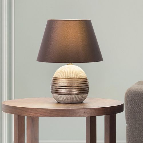 Sadah Porcelain Table Lamp - Brown or Silver