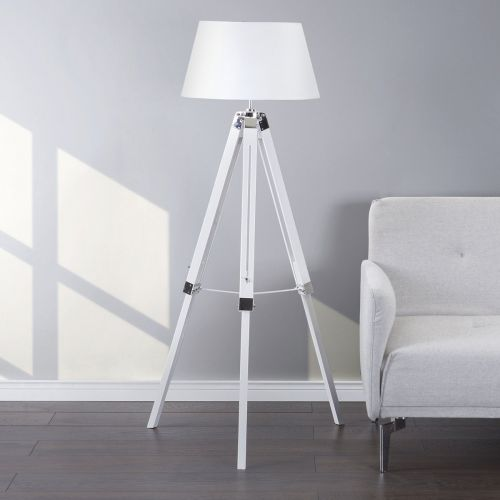 Madira Tripod Floor Lamp - Wood, White or Black