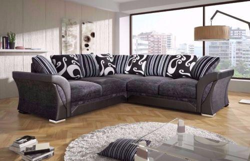 Shannon Chenille Fabric Corner Sofa Suite