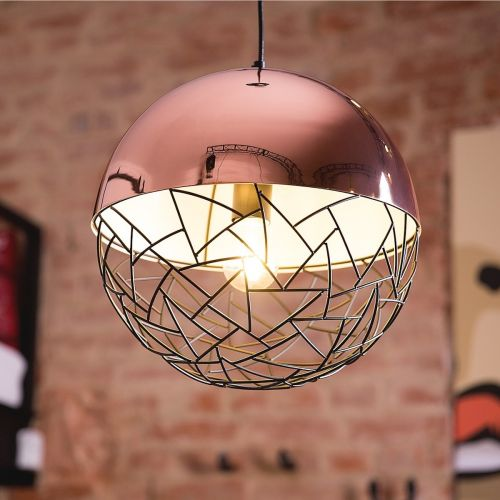 Padma Metal Pendant Lamp - Copper, Gold or Black