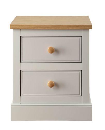 LPD St. Ives 2 Drawer Bedside Cabinet - Dove Grey