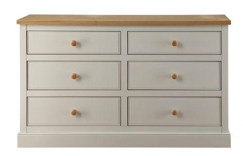 LPD St. Ives 6 Drawer Wide Storage Chest - Dove Grey
