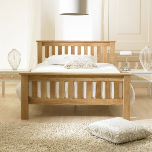 Richmond Chunky Oak Wood Bed - 3 Sizes