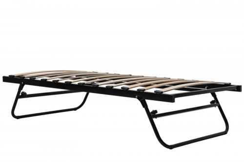 Fold Away Metal Trundle Guest Bed Frame Single Size - 2 Colours