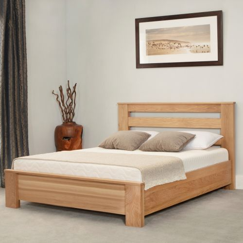 Heartwood Chunky Oak Wood Bed - 3 Sizes