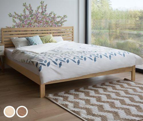 Canac Wooden Bed - Light Wood & Dark Wood