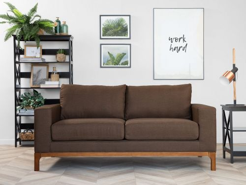 Reesa Fabric Sofa with 2 Seater - Brown