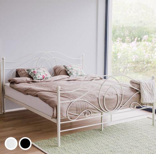 Lira Metal Bed - White & Black