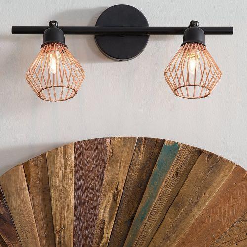 Olga 2 Light Metal Wall Light - Copper