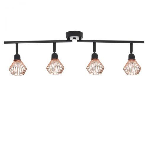 Olga 4 Light Metal Ceiling Lamp - Copper