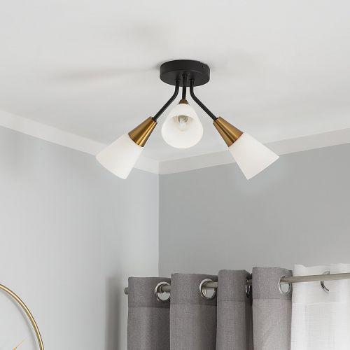 Aroya 3 Light Metal Ceiling Lamp - Gold