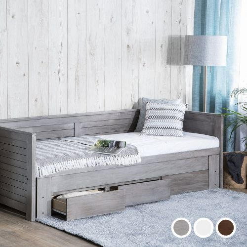 Cohars Wooden Daybed with Storage - 3 Colours