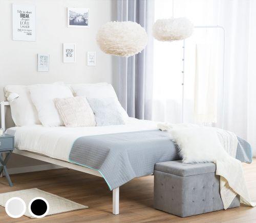 Cassi Metal Bed - White & Black