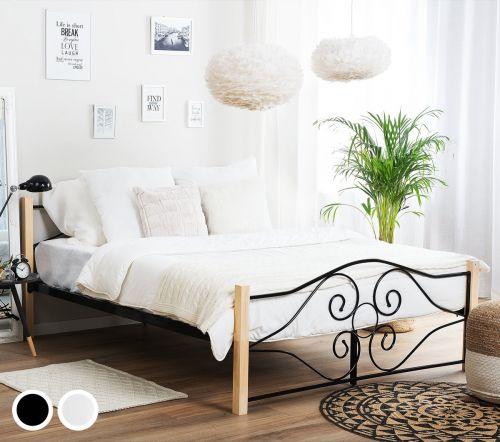 Floran Metal Bed - Black & White
