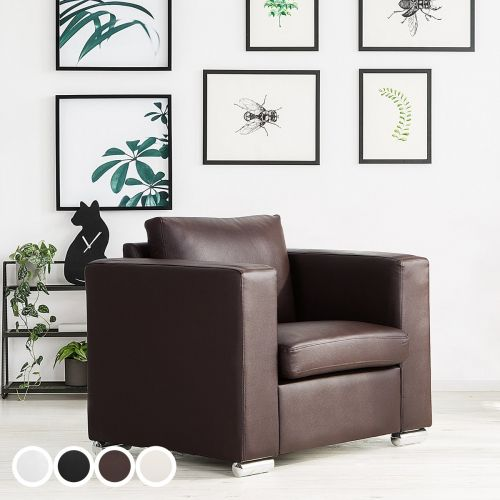 Helsin Leather Armchair - 4 Colours