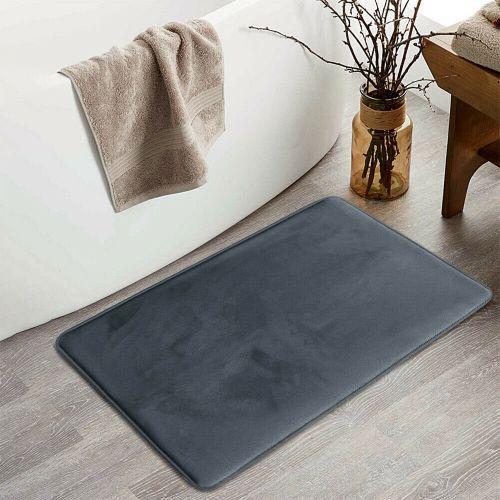 Non Slip Water Absorbent Bath Mat Plain Grey Colour - 50x80 cm