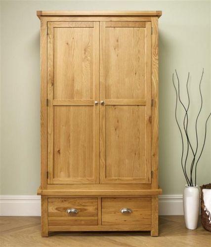 Birlea Woburn Solid Oak 2 Door 2 Drawer Wardrobe