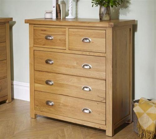 Birlea Woburn 3+2 Drawer Oak Storage Chest