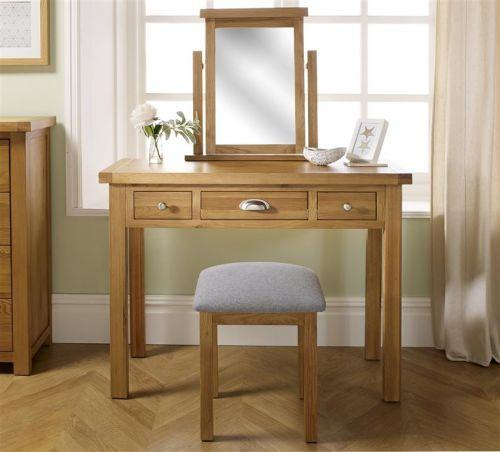 Birlea Woburn Solid Oak 3 Drawer Dressing Table