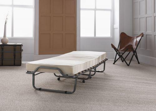 Luxor Anthracite Metal Folding Bed & Mattress - 2 Sizes