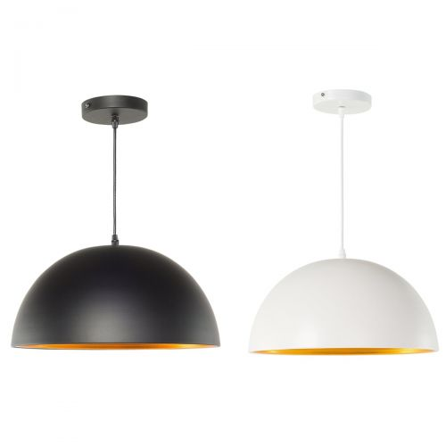 Gran Metal Pendant Lamp - White or Black