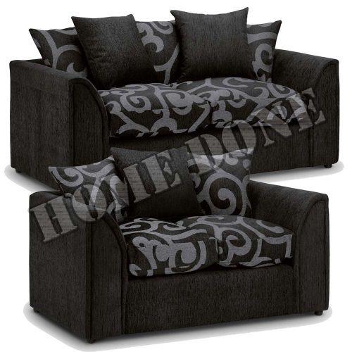 Zina Chenille Fabric 3 And 2 Sofa Set
